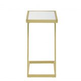 My Decor Center - Laina Side Table (Mirror & Gold)