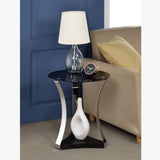 My Decor center - Geiger End Table (Chrome & Black Glass)