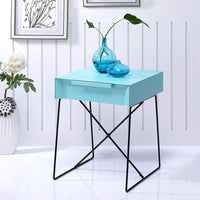 My Decor Center - Gualacao End Table (Light Blue)