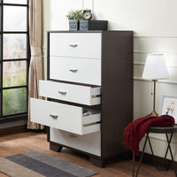 My Decor Center - Eloy Chest (White & Espresso)
