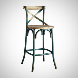 My Decor Center - Zaire Bar Chair (Antique Turquoise)