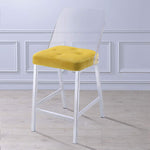 My Decor Center - Nadie II Counter Height Chair (Yellow Velvet & Chrome)