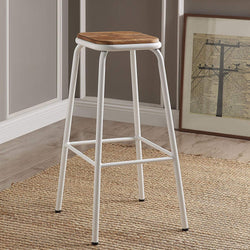 My Decor Center - Scarus Bar Stool (Natural & White)