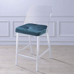 My Decor Center - Nadie II Counter Height Chair (Teal Velvet & Chrome)
