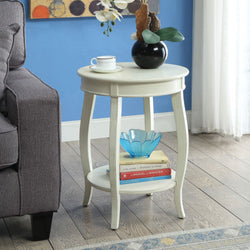 My Decor Center - Free Shipping - Acme Furniture, Aberta - Side Table (Antique White)