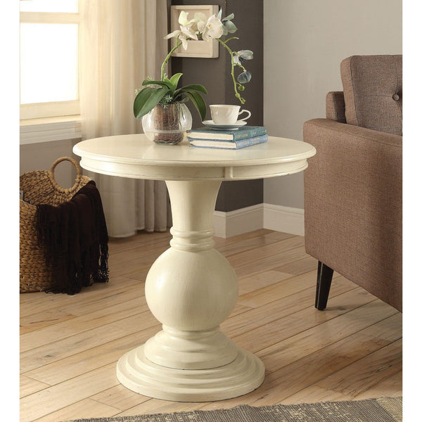 My Decor Center - Alyx Accent Table (Antique White)