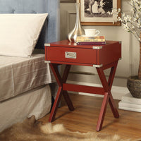 My Decor Center - Babs End Table (Red)