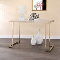 My Decor Center - Boice II Sofa Table (Faux Marble & Champagne)