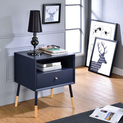 My Decor Center - Sonria II End Table (Black & Natural)