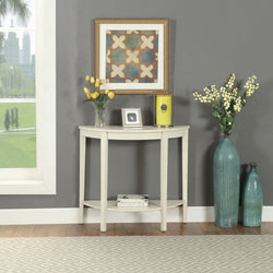 My Decor Center - Justino II  Console Table Antique (White)