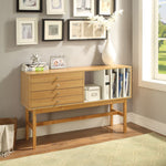 My Decor Center - Stania Console Table (Ivory & Natural)