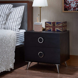 My Decor Center - Free Ground Shipping - Acme Furniture, Nightstand, Elms - Nightstand (Black & Chrome)