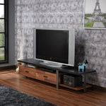 My Decor Center - Elling TV Stand (Walnut & Black)