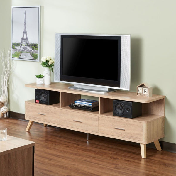 My Decor Center - Lakin TV Stand (Rustic Natural)