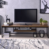 My Decor Center - Bob TV Stand (Weathered Oak & Black)