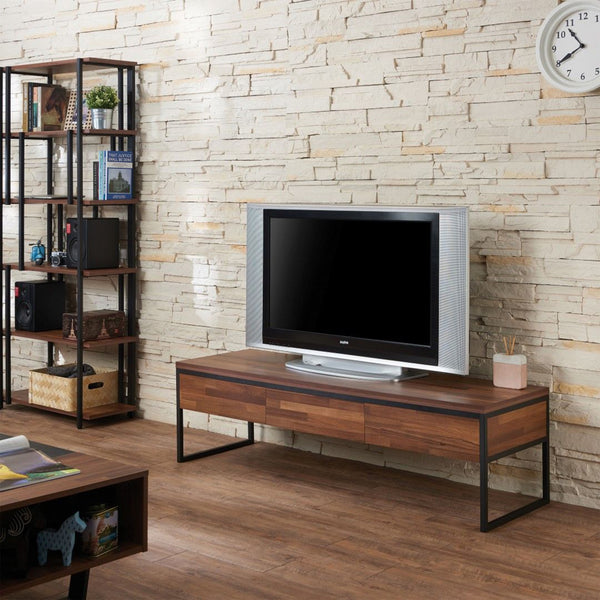 My Decor Center - Sara TV Stand (Walnut & Sandy Black)