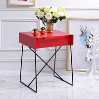My Decor Center - Gualacao End Table (Red)