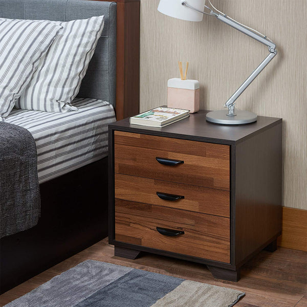 My Decor Center - Eloy Nightstand (Walnut & Espresso)