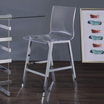 My Decor Center - Nadie Counter Height Chair (Clear Acrylic & Chrome)