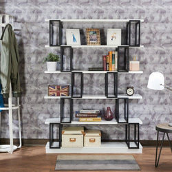 My Decor Center - Verne Bookshelf (White & Black)