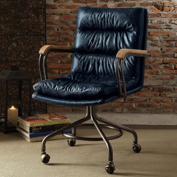 My Decor Center - Harith Executive Office Chair (Vintage Blue)