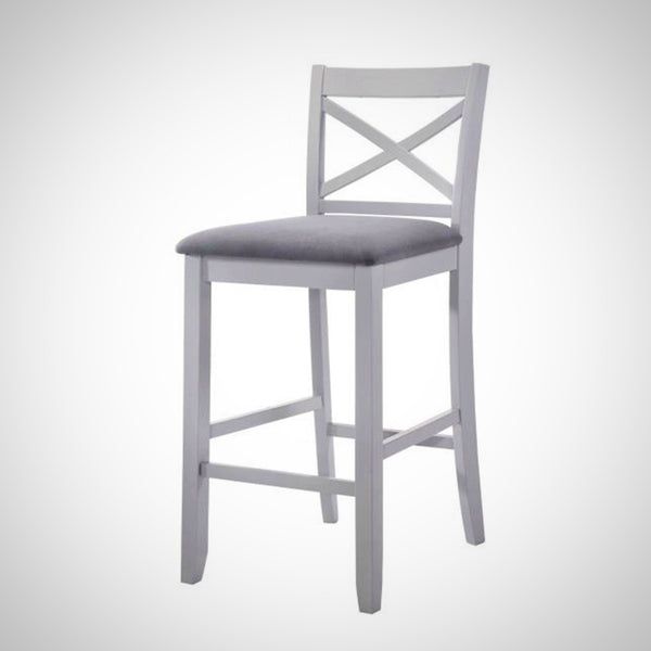 My Decor Center - Tobie Bar Chair (Fabric & Gray)