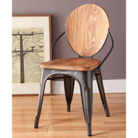 My Decor Center - Jakia III Side Chair (Natural & Gunmetal)