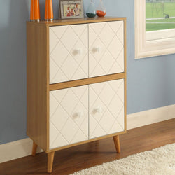 My Decor Center - Free Shipping - Acme Furniture, Anita - Cabinet (Natural & White)