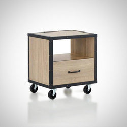 My Decor Center - Free Shipping - Acme Furniture, Bemis - Nightstand (Rustic Natural & Black)