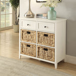 My Decor Center - Filbert Console Table 6 Drawer (White)