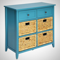 My Decor Center - Free Ground Shipping - Acme Furniture, Console Table, Filbert - Console Table 6 Drawer (Teal)