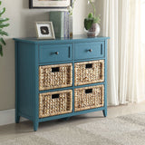My Decor Center - Filbert Console Table 6 Drawer (Teal)