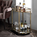 My Decor Center - Lacole Serving Cart (Champagne & Mirror)