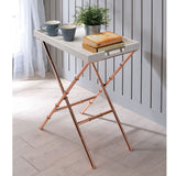 My Decor Center - Lajos Tray Table (Ivory & Rose Gold)