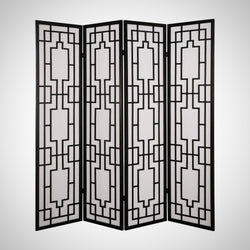 My Decor Center - Free Shipping - Acme Furniture, Cecilia - Room Divider Screen 4 Panels (Black)