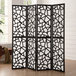 My Decor Center - Free Shipping - Acme Furniture, Aerona - Room Divider Screen 4 Panels (Black)