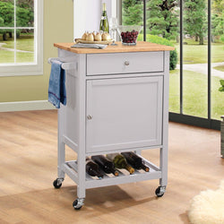 My Decor Center - Free Ground Shipping - Acme Furniture, Serving Cart, Hoogzen - Kitchen Cart (Natural & Gray)