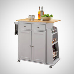 My Decor Center - Tullarick Kitchen Cart (Natural & Gray)