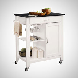 My Decor Center - Ottawa Kitchen Cart (Black & White)