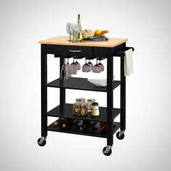 My Decor Center - Ottawa Kitchen Cart (Natural & Black)