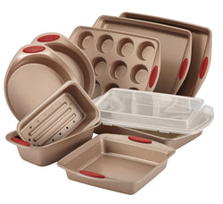 10-Pc Cucina Bakeware Set (Red)