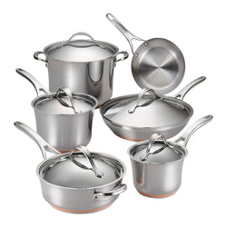 Nouvelle Stainless 11-Piece Cookware Set