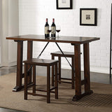 My Decor Center - Filbert Counter Height Table Set 3PC Pack (Walnut & Black)