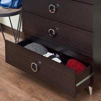 My Decor Center - Elms Chest (Espresso Chrome)