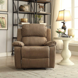 My Decor Center - Free Shipping - Acme Furniture, Bina - Recliner (Taupe Microfiber)