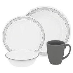 Livingware 16-Pc Set, Service for 4 (Mystic Gray)
