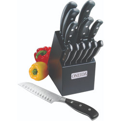 14-Pc Triple Rivet Cutlery Set w/ Block