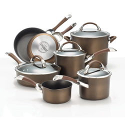 11-Pc Symmetry Hard Anodized Cookware Set (Chocolate)
