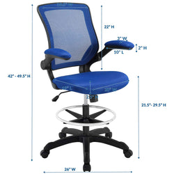 Veer Drafting Chair (Blue)