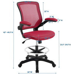 Veer Drafting Chair (Red)